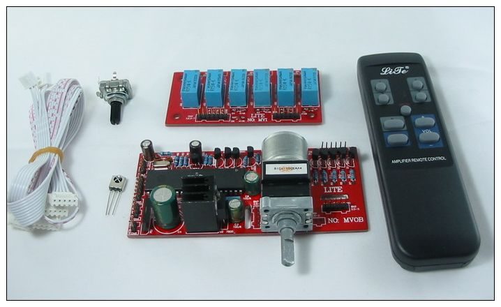Remote Volume Control : Way motorized remote volume control input selector kit ebay